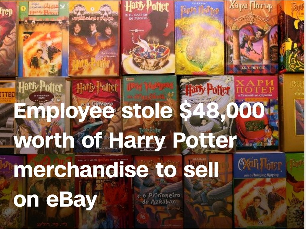 Employee Stole 48 000 Worth Of Harry Potter Merchandise To Sell On Ebay By Amy Woodyatt Cnn Jan 4 2020 Ginnyent