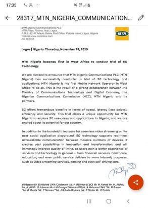 MTN-already-tested-5G-in-Nigeria-See-this-2019-Memo-lailasnews-293x410